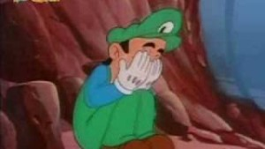 Oh, jeeze. Oh, Luigi, I didn't know you were there. Oh, Man, this is getting awkward.