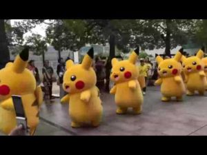 Must catch them all. The Pikachus command it. Must put them all in a basket and apply lotion. The Pikachus command it.